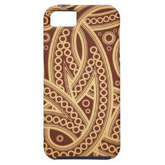 Caso del iPhone 5 de Brown Paisley iPhone 5 Fundas
