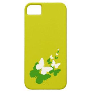 Caso del iPhone 5 de Butterfy del verde amarillo y iPhone 5 Carcasa
