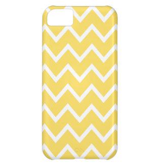 Caso del iPhone 5 de Chevron en amarillo del ánimo Funda Para iPhone 5C