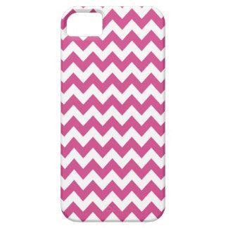 Caso del iPhone 5 de Chevron en Flambe rosado iPhone 5 Case-Mate Funda