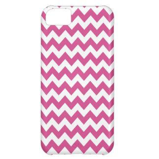 Caso del iPhone 5 de Chevron en Flambe rosado