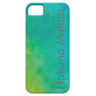 Caso del iPhone 5 de la acuarela de Hakuna Matata iPhone 5 Carcasa