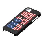 Caso del iPhone 5 de la bandera americana de los E iPhone 5 Case-Mate Protector