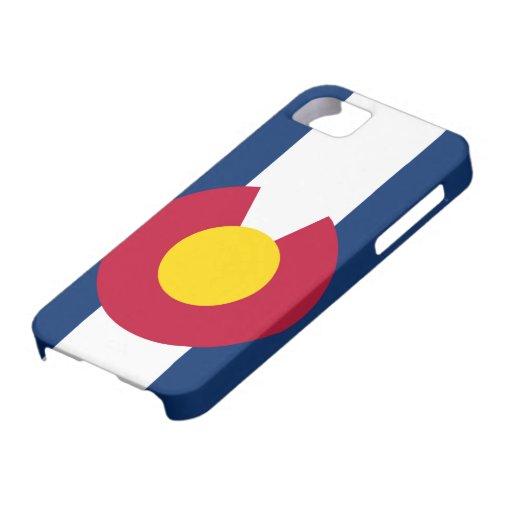 Caso del iPhone 5 de la bandera de Colorado apenas iPhone 5 Protector
