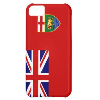 Caso del iPhone 5 de la bandera de Manitoba Funda Para iPhone 5C
