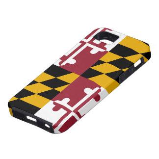 Caso del iPhone 5 de la bandera de Maryland iPhone 5 Funda