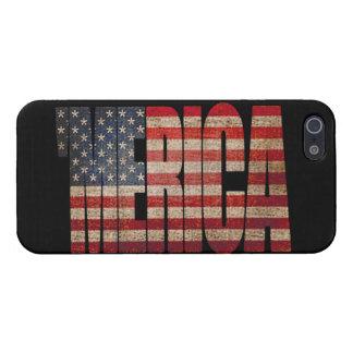 Caso del iPhone 5 de la bandera de MERICA E E U U iPhone 5 Carcasa