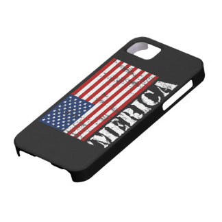 Caso del iPhone 5 de la bandera de MERICA E.E.U.U. iPhone 5 Fundas