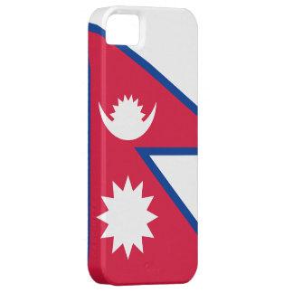 Caso del iphone 5 de la bandera de Nepal Funda Para iPhone 5 Barely There