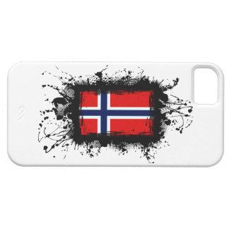 Caso del iPhone 5 de la bandera de Noruega iPhone 5 Funda