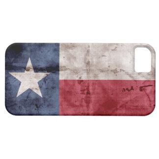 Caso del iPhone 5 de la bandera de Tejas del vinta iPhone 5 Protectores