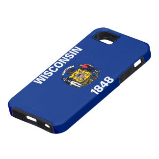 Caso del iPhone 5 de la bandera de Wisconsin Funda Para iPhone SE/5/5s