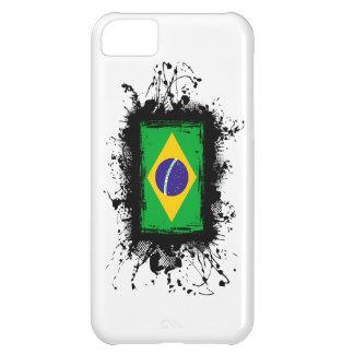 Caso del iPhone 5 de la bandera del Brasil Funda Para iPhone 5C