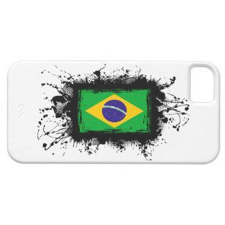 Caso del iPhone 5 de la bandera del Brasil iPhone 5 Fundas