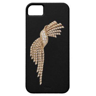 Caso del iPhone 5 de la borla del oro del diamante iPhone 5 Carcasa
