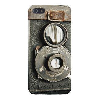 Caso del iPhone 5 de la cámara de Brillant del iPhone 5 Funda