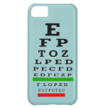 Caso del iPhone 5 de la carta de ojo
