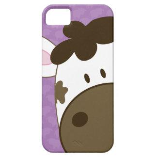 Caso del iPhone 5 de la casamata de la vaca - púrp iPhone 5 Cárcasas