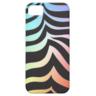 Caso del iPhone 5 de la cebra del arco iris iPhone 5 Fundas