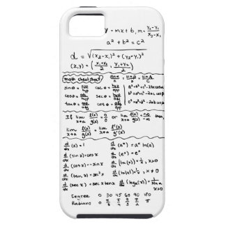 Caso del iPhone 5 de la chuleta de las ecuaciones  iPhone 5 Carcasa
