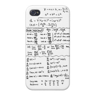 Caso del iPhone 5 de la chuleta de las ecuaciones  iPhone 4 Fundas