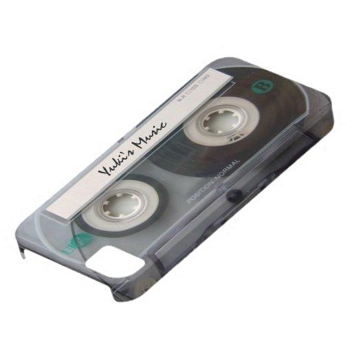 Caso del iphone 5 de la cinta de casete iPhone 5 fundas