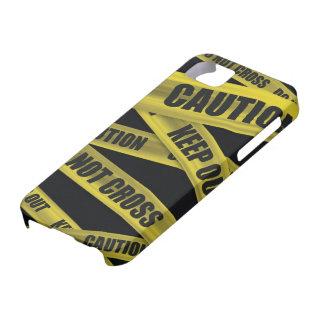 Caso del iPhone 5 de la cinta de la precaución Funda Para iPhone SE/5/5s