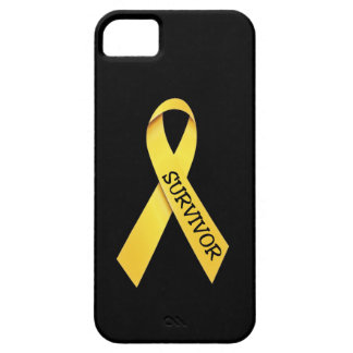 Caso del iPhone 5 de la cinta del amarillo del Funda Para iPhone 5 Barely There