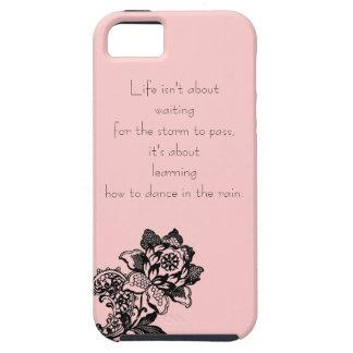 Caso del iphone 5 de la cita de la vida iPhone 5 carcasas