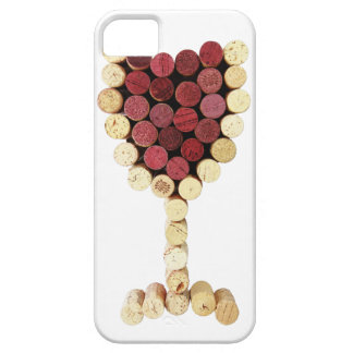 Caso del iPhone 5 de la copa de vino del corcho iPhone 5 Funda