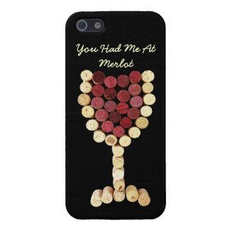 Caso del iPhone 5 de la copa de vino del corcho iPhone 5 Cárcasa