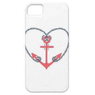 Caso del iPhone 5 de la cuerda del corazón del iPhone 5 Funda