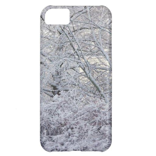 caso del iphone 5 de la escena del invierno funda para iPhone 5C