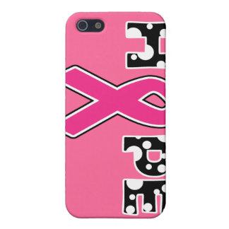 """Caso del iPhone 5 de la """"esperanza"""" del cáncer de  iPhone 5 Funda"""