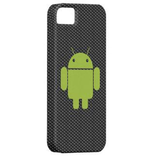 Caso del iPhone 5 de la fibra de carbono (androide Funda Para iPhone SE/5/5s