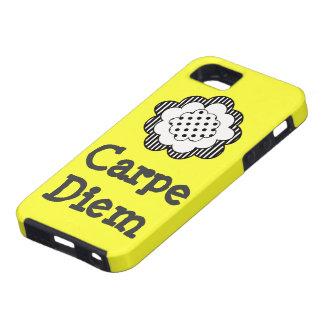 Caso del iphone 5 de la flor de Carpe Diem iPhone 5 Carcasas