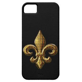 Caso del iPhone 5 de la flor de lis del oro iPhone 5 Cárcasas
