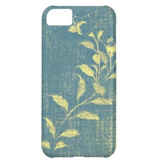 Caso del iPhone 5 de la flor del dril de algodón
