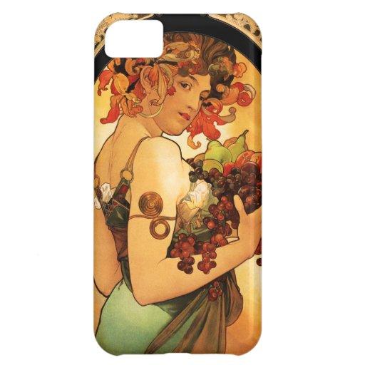 Caso del iPhone 5 de la fruta de Alfonso Mucha