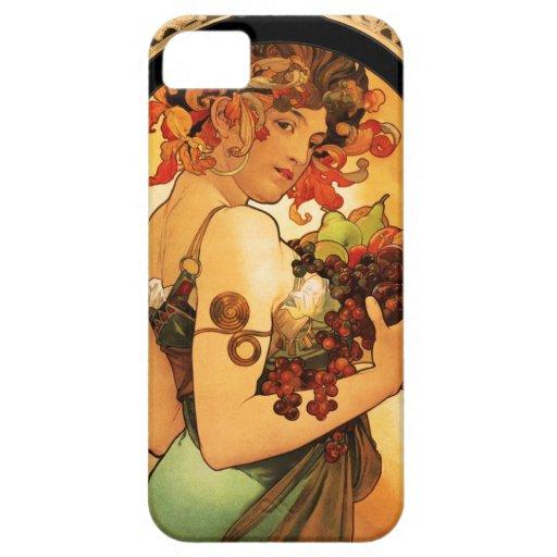 Caso del iPhone 5 de la fruta de Alfonso Mucha iPhone 5 Case-Mate Coberturas