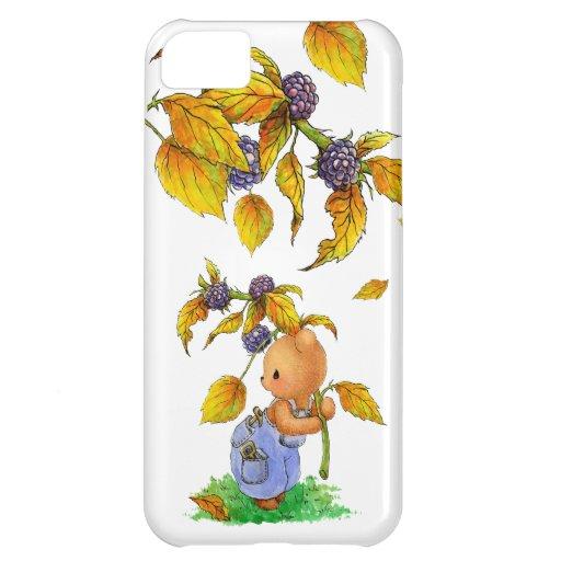 Caso del iPhone 5 de la fruta del otoño