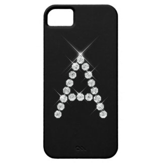 Caso del iPhone 5 de la inicial A del diamante Funda Para iPhone 5 Barely There
