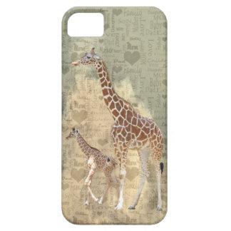 Caso del iPhone 5 de la jirafa de la mamá y de la iPhone 5 Carcasas