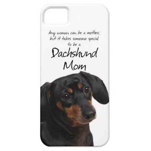 Caso del iPhone 5 de la mamá del Dachshund iPhone 5 Funda
