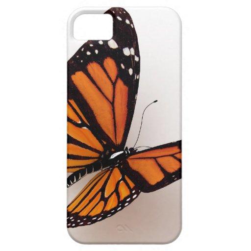 Caso del iPhone 5 de la mariposa de monarca iPhone 5 Protector
