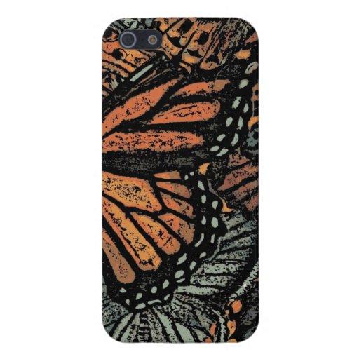 ¡Caso del iphone 5 de la mariposa de monarca! iPhone 5 Funda