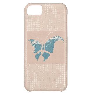 Caso del iPhone 5 de la mariposa y del cordón