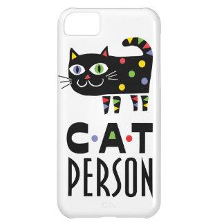 Caso del iPhone 5 de la persona del gato