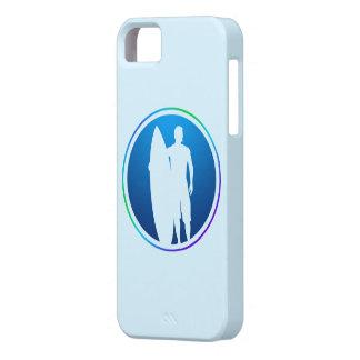 Caso del iphone 5 de la persona que practica surf iPhone 5 Case-Mate fundas