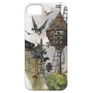 Caso del iPhone 5 de la pintura del Birdhouse del iPhone 5 Protector